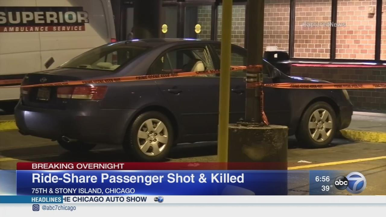 Ride-sharing passenger shot and killed on South Side