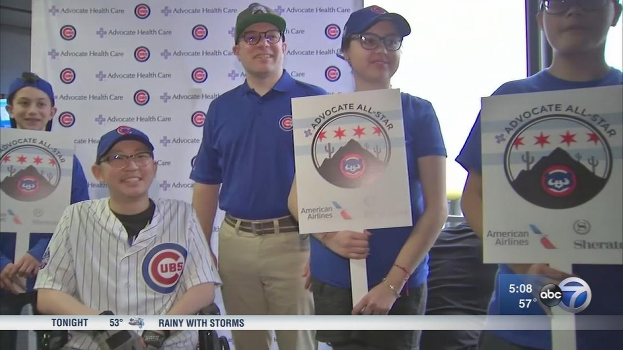 Young cancer patients get free trip to Cubs spring training