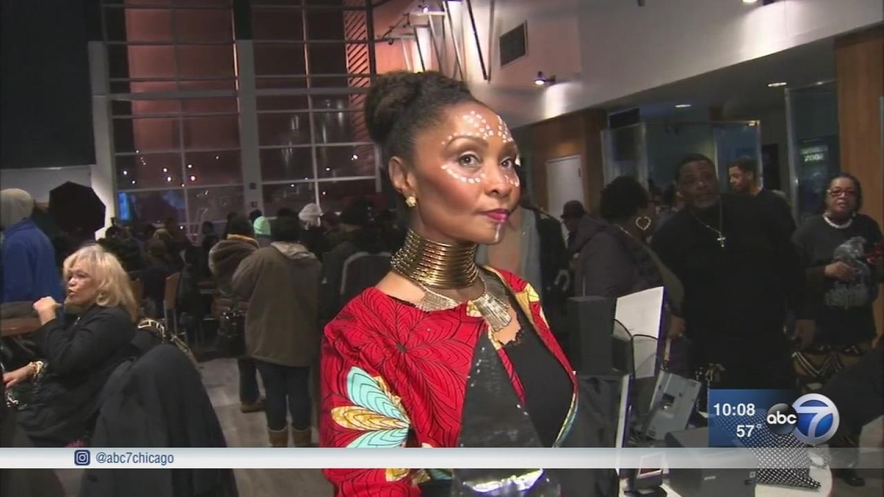 CPS students, families, churches pack Black Panther showings