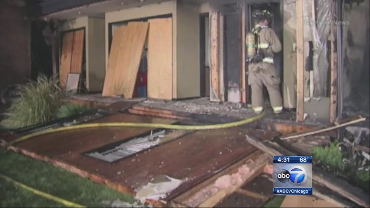 Elgin homeowner injured in house explosion, fire