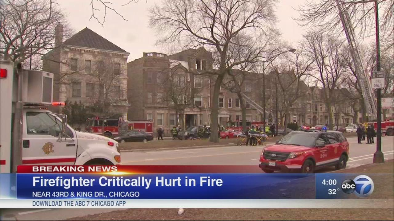 Fire captain seriously injured in Bronzeville apartment blaze