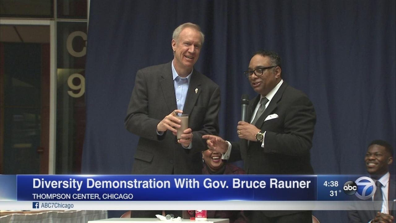 Gov. Rauner participates in diversity demonstration
