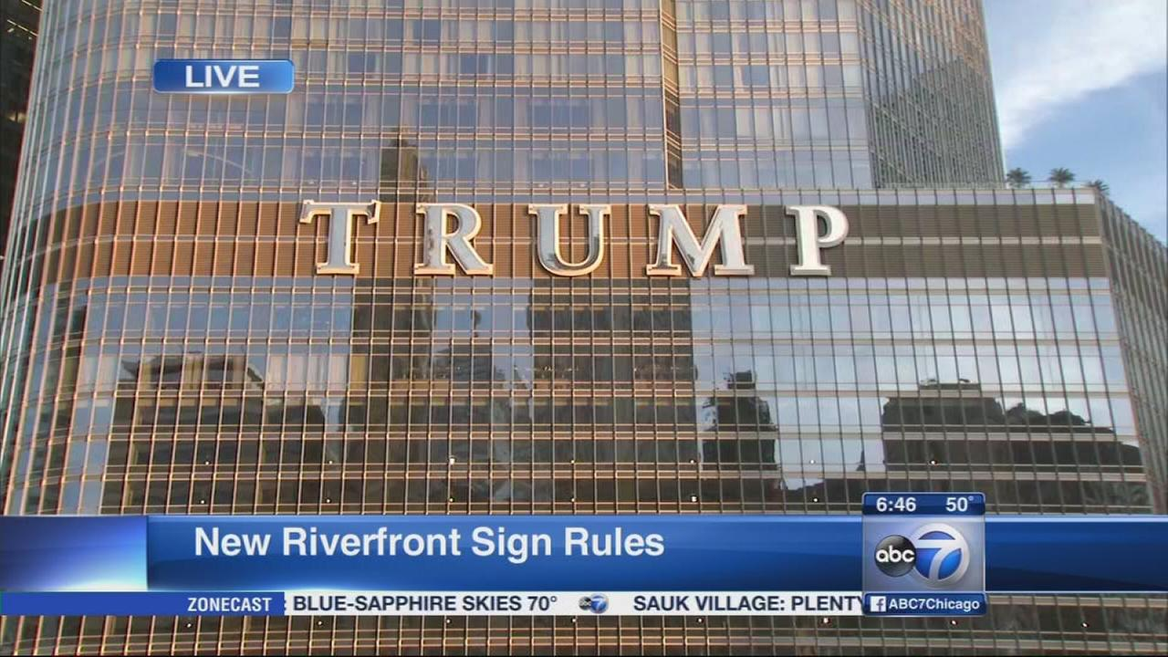Trump sign may lead to new regulations for Chicago River signage
