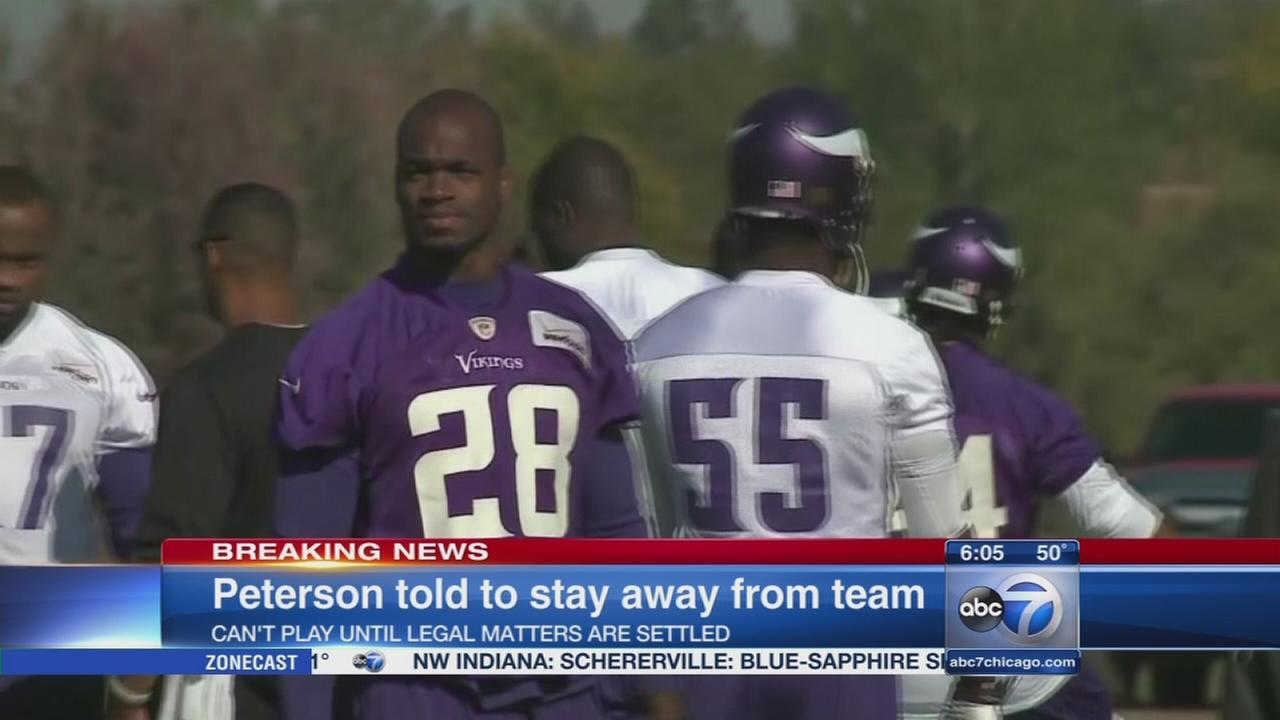 Adrian Peterson barred from all Vikings activities