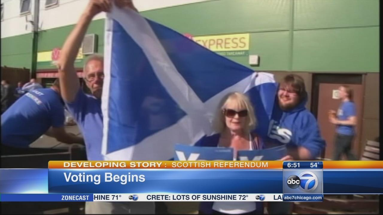 Scotland independence vote begins as polls open