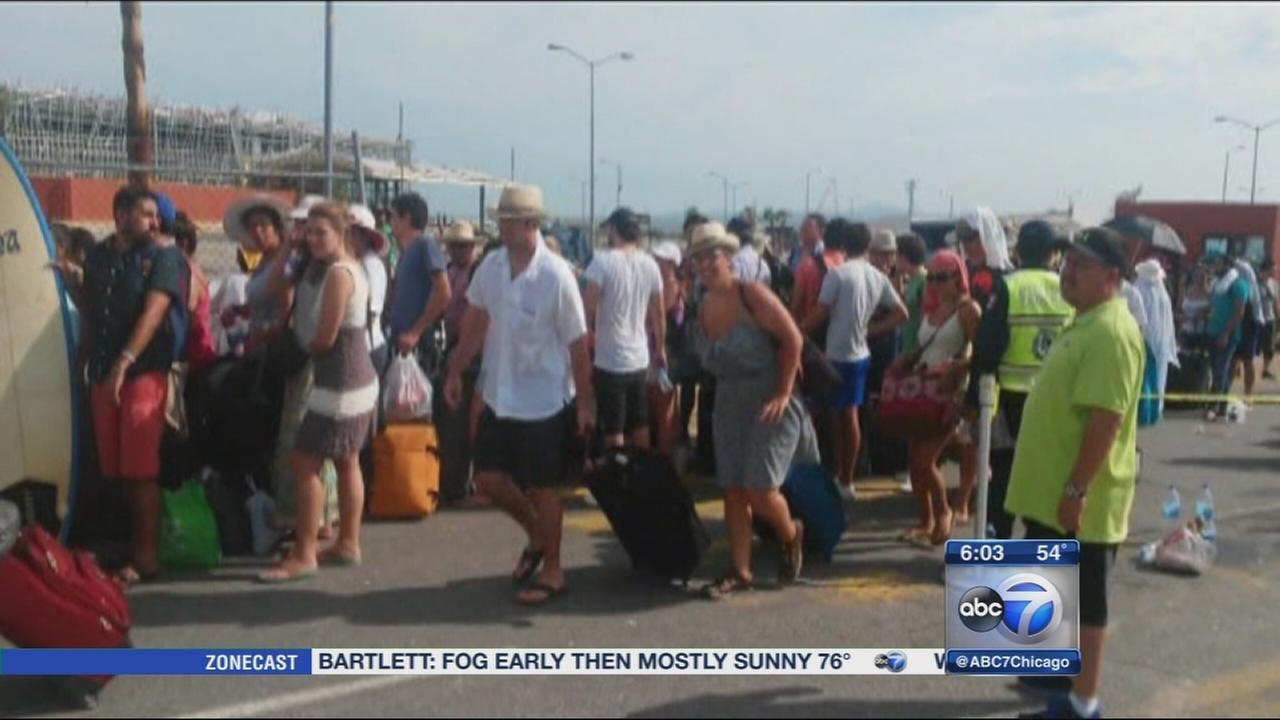 Cabo tourists return home after Hurricane Odile