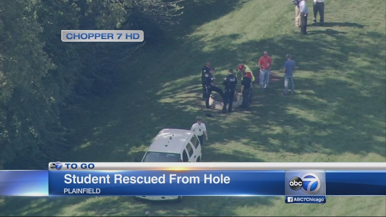 Girl, 12, rescued from hole