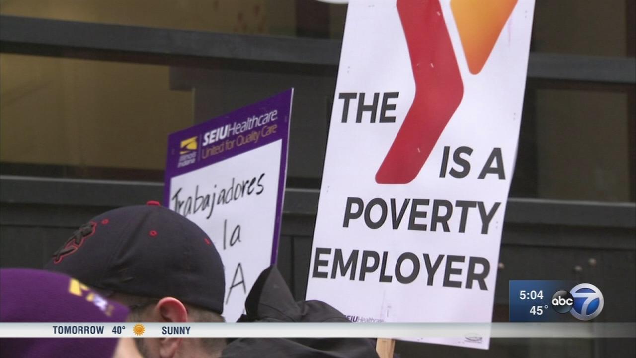 YMCA childcare staff stage 1-day strike