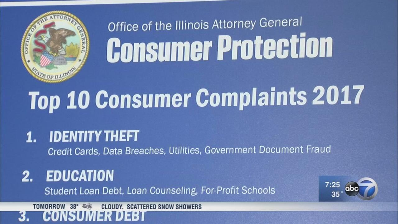 Identity theft tops list of 2017 Illinois consumer complaints, AG says