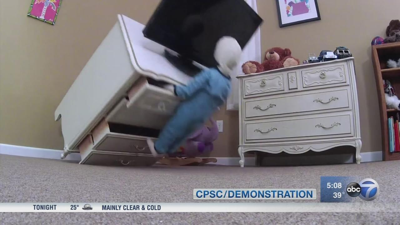 Falling furniture, TVs still putting children at risk