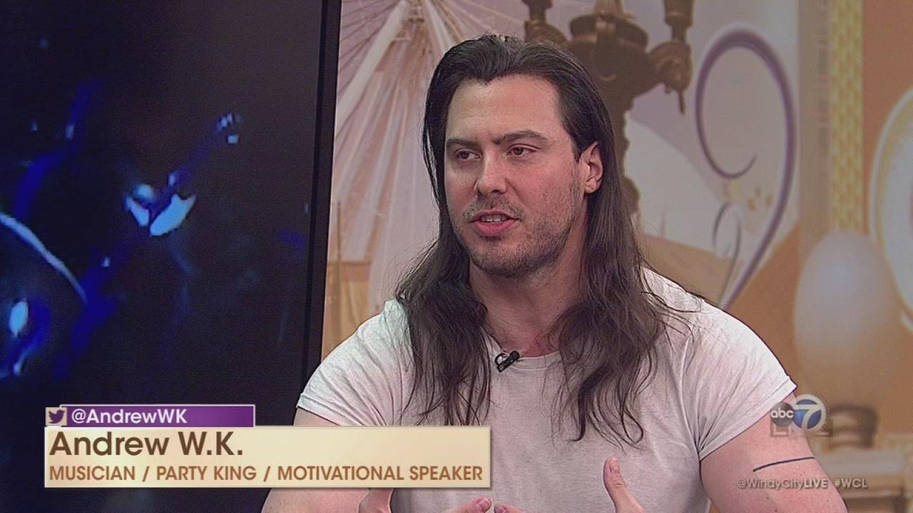 Musician Andrew W.K., legendary ?King of Partying?