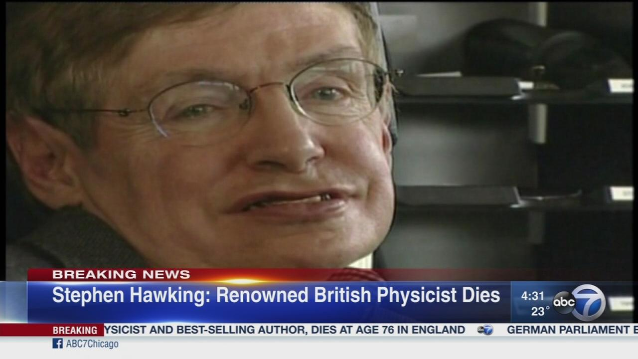 World-renknowned physiscist Stephen Hawking dies