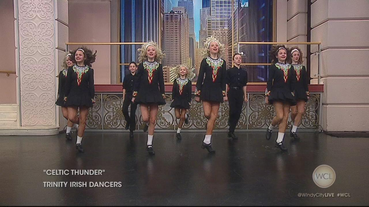 Trinity Irish Dancers visit WCL