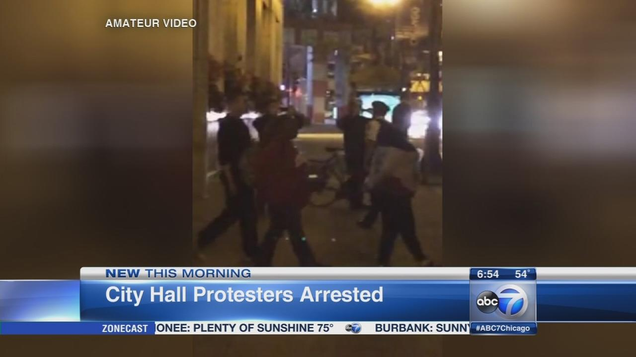 11 Dyett High School protesters arrested at City Hall