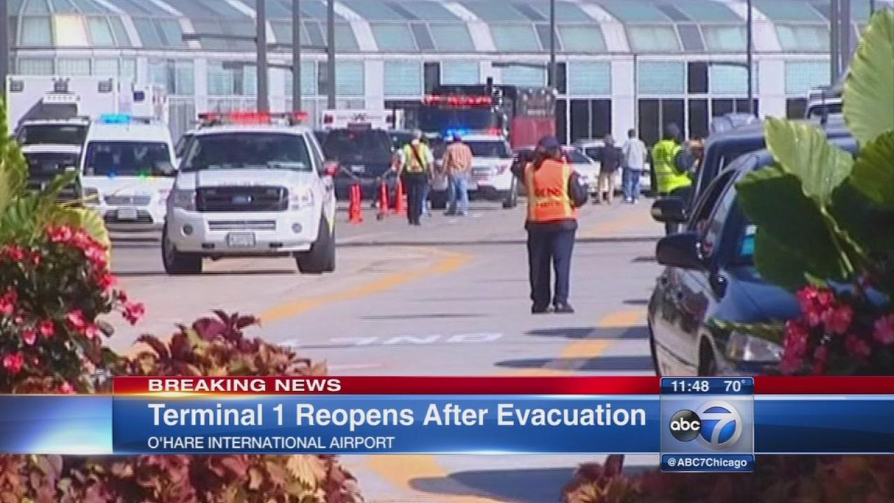 OHare Terminal 1 reopens after partial evacuation