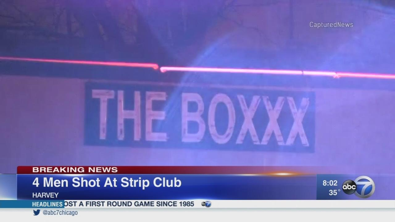 4 men shot at Harvey strip club