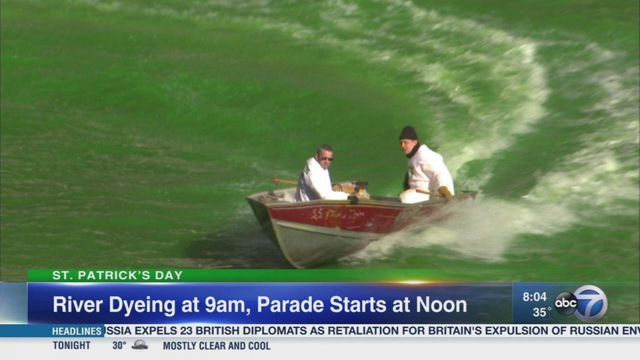 Chicago River to be dyed for St. Patricks Day