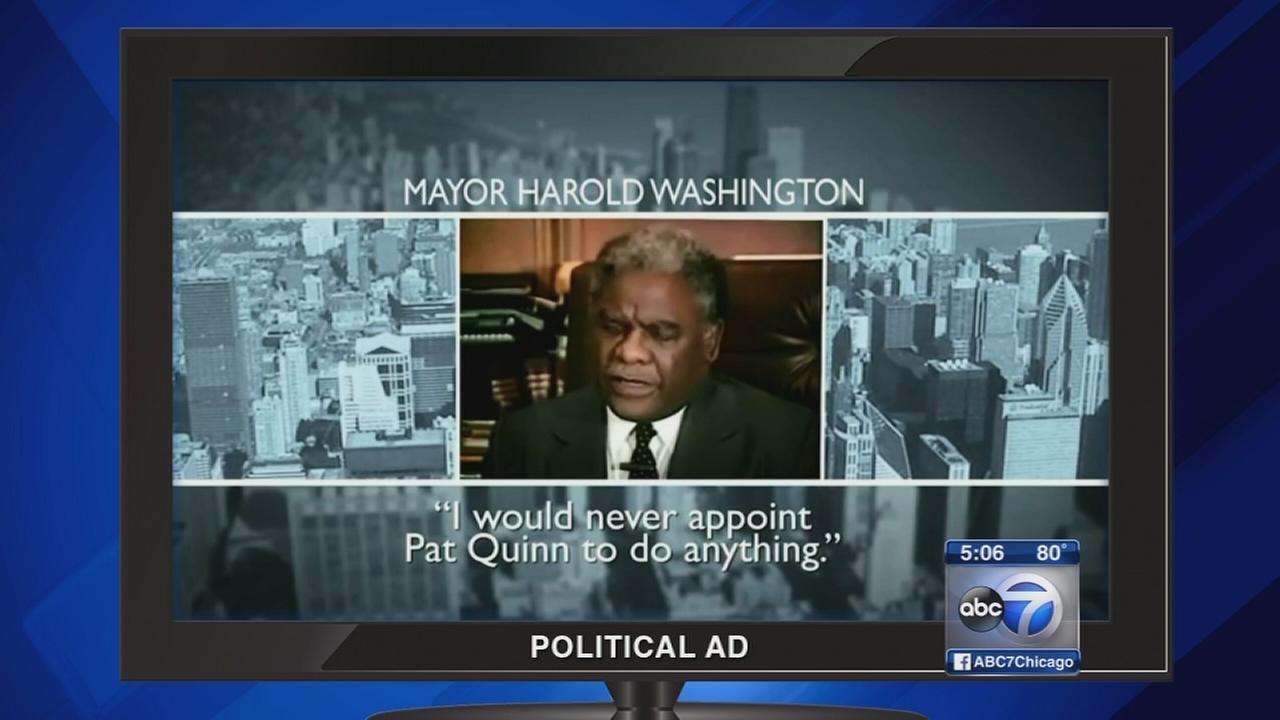 Rauner attack ad includes Harold Washington video