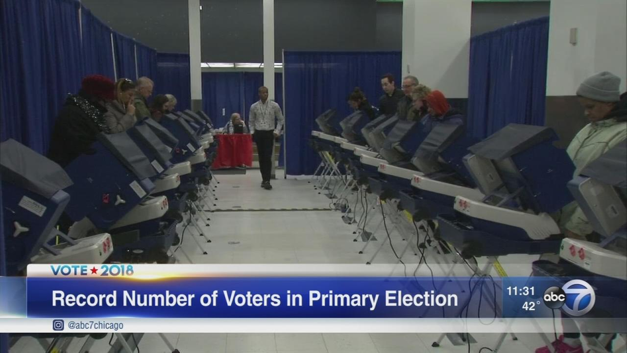 Record number of early voters in Cook County
