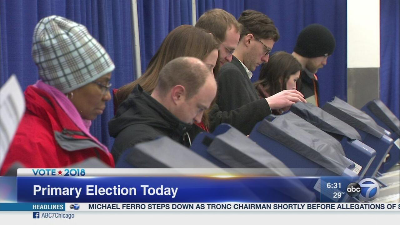 Voters head ot the polls in Illinois primary