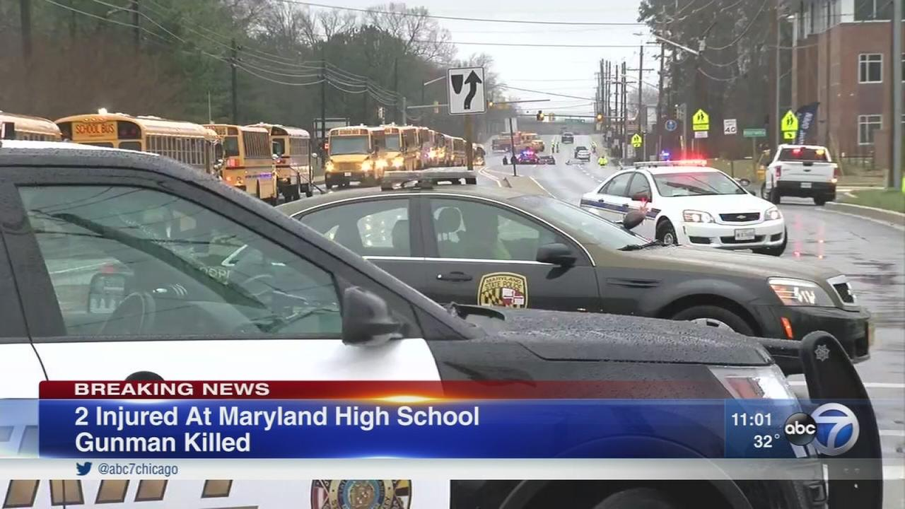 Shooter dead, two students wounded in Maryland HS shooting