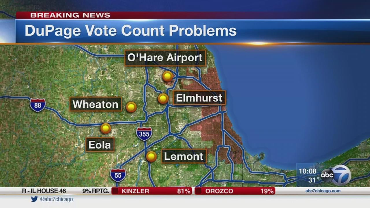 DuPage County election results delayed by hardware problem