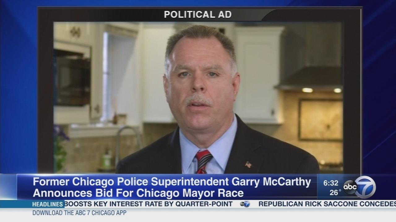 Former CPD Supt. Garry McCarthy announces mayoral run