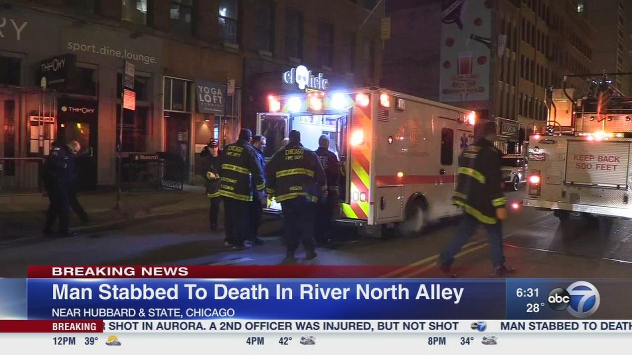 Man stabbed to death in River North