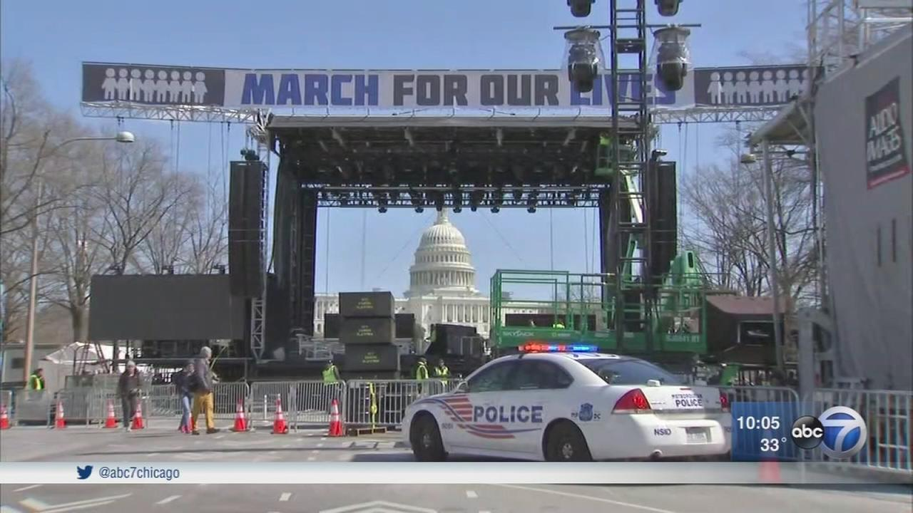 Chicago students in city, D.C. prepare for March for Our Lives 2018 rally
