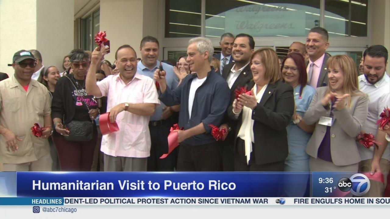 Emanuel, Gutierrez visit Puerto Ricans affected by hurricanes