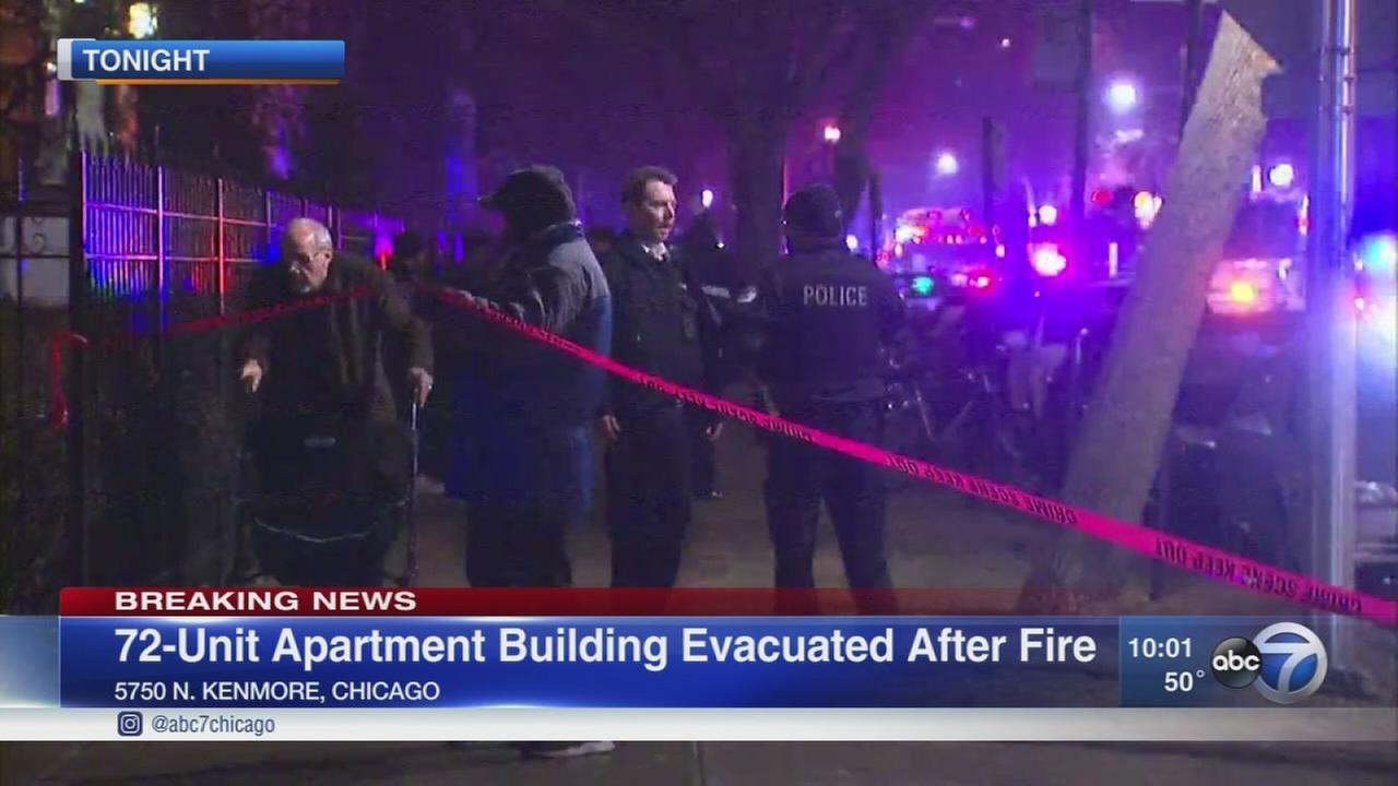 Residents evacuated from Edgewater apartment fire