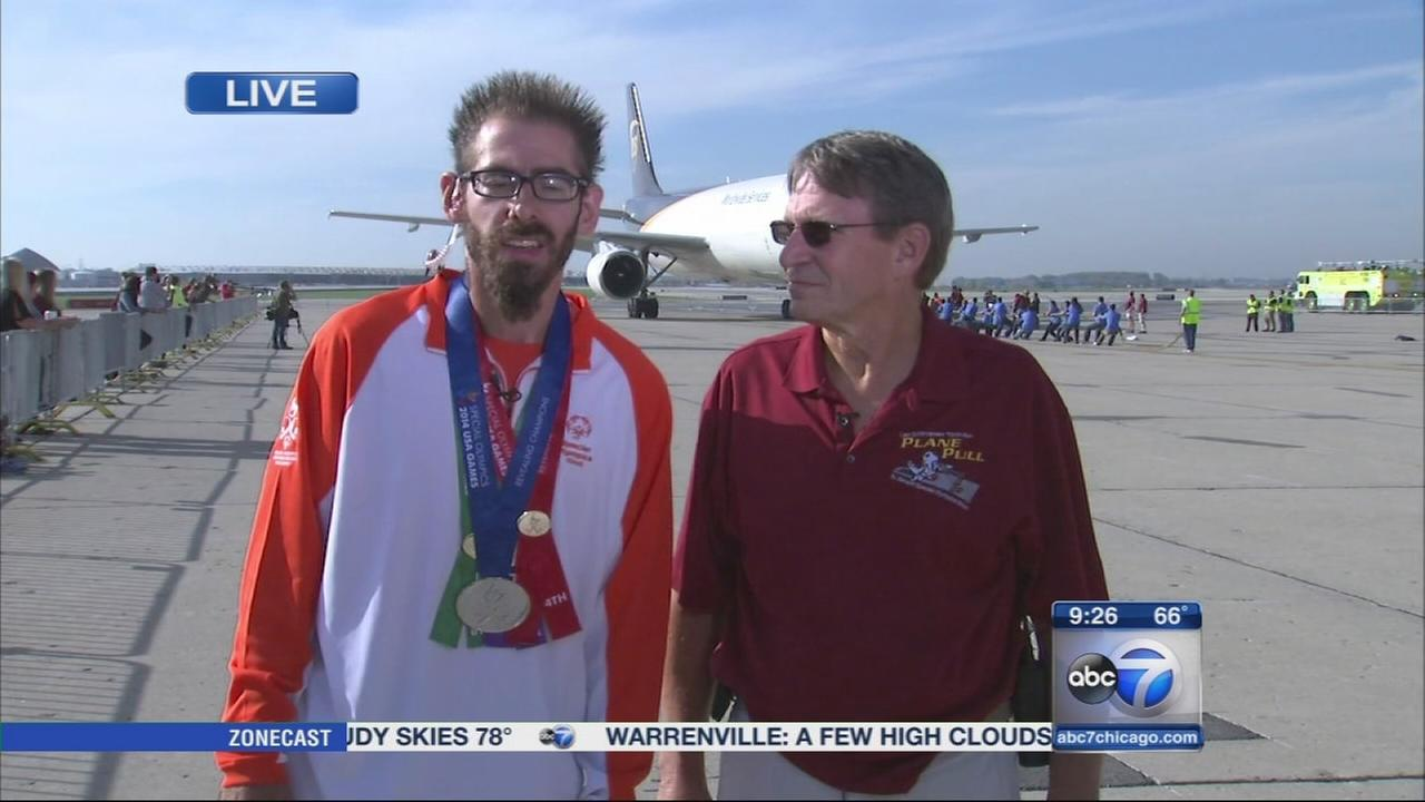 Plane Pull fundraises for Special Olympics