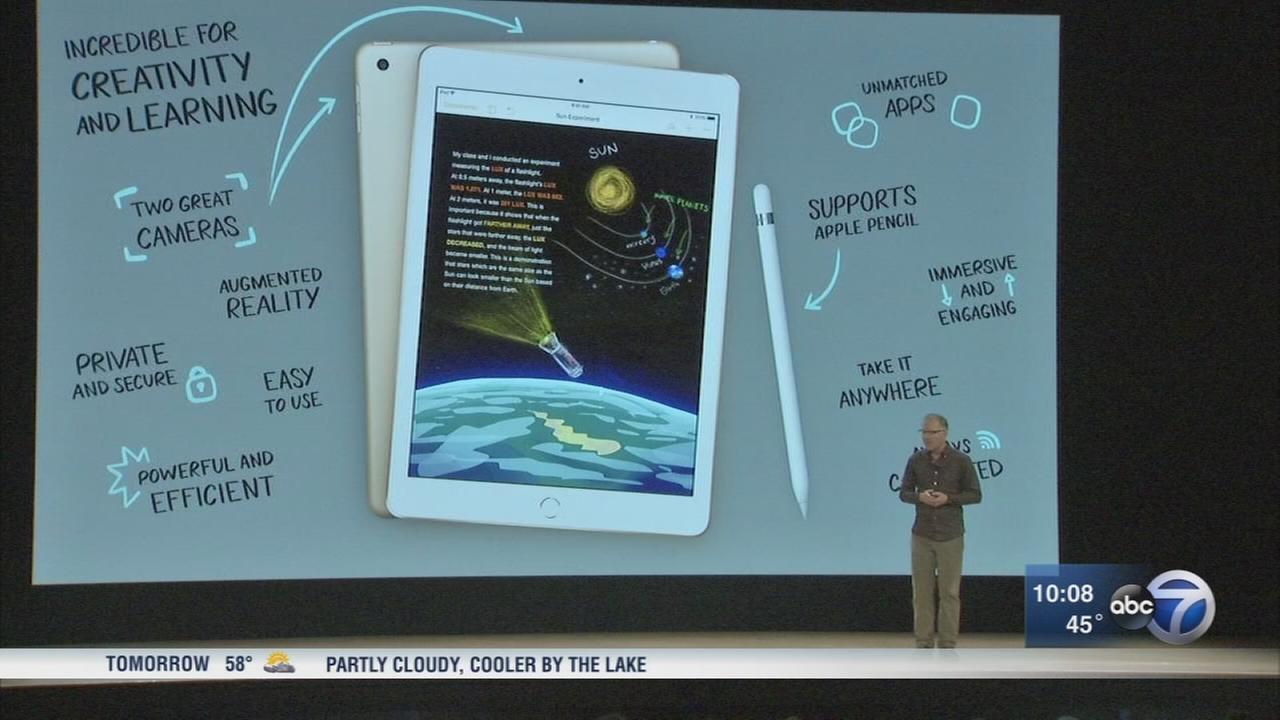 Apple unveils new iPad, pencil at Lane Tech High School