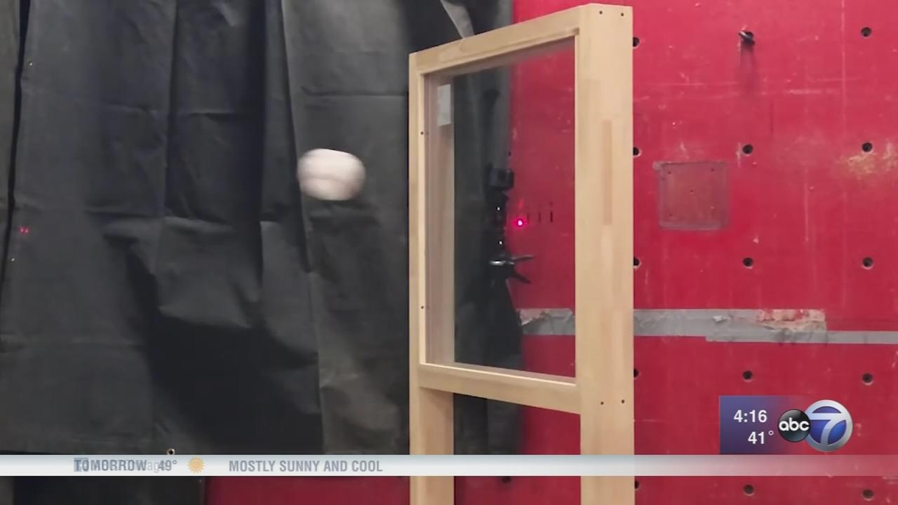 Home-run-proof windows installed outside of Wrigley Field