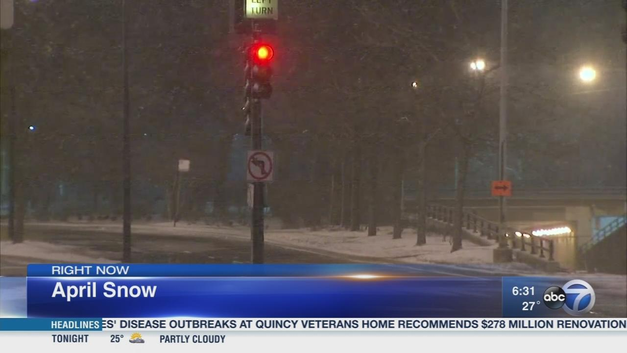 Chicago Weather: Light snow creates slick roads