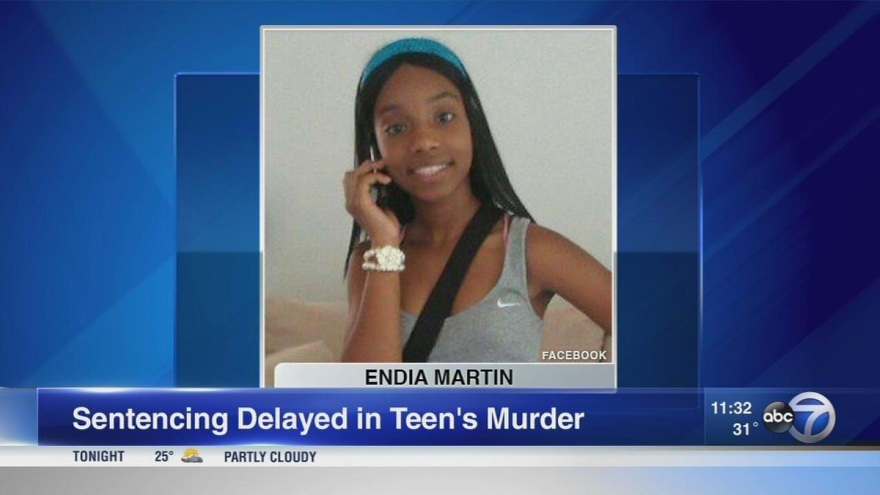 Sentencing for teen convicted of killing Endia Martin in 2014 postponed