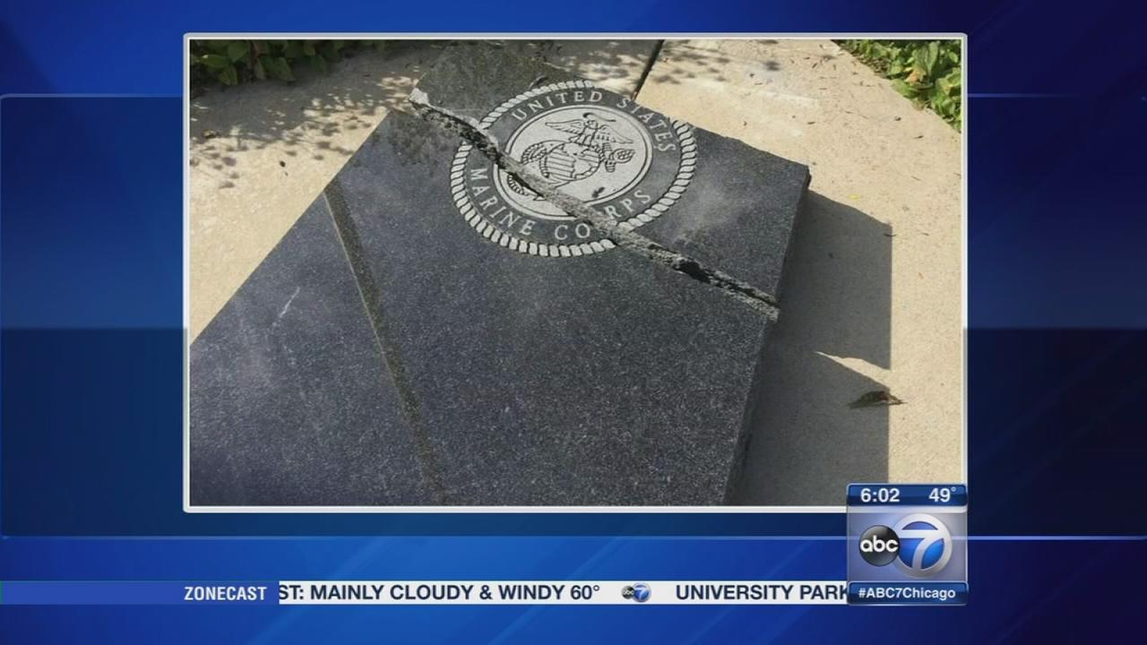 Veterans memorial vandalized in New Lenox