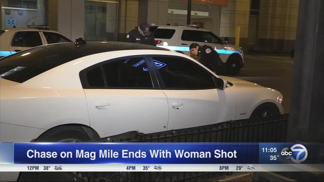 Woman shot on Mag Mile