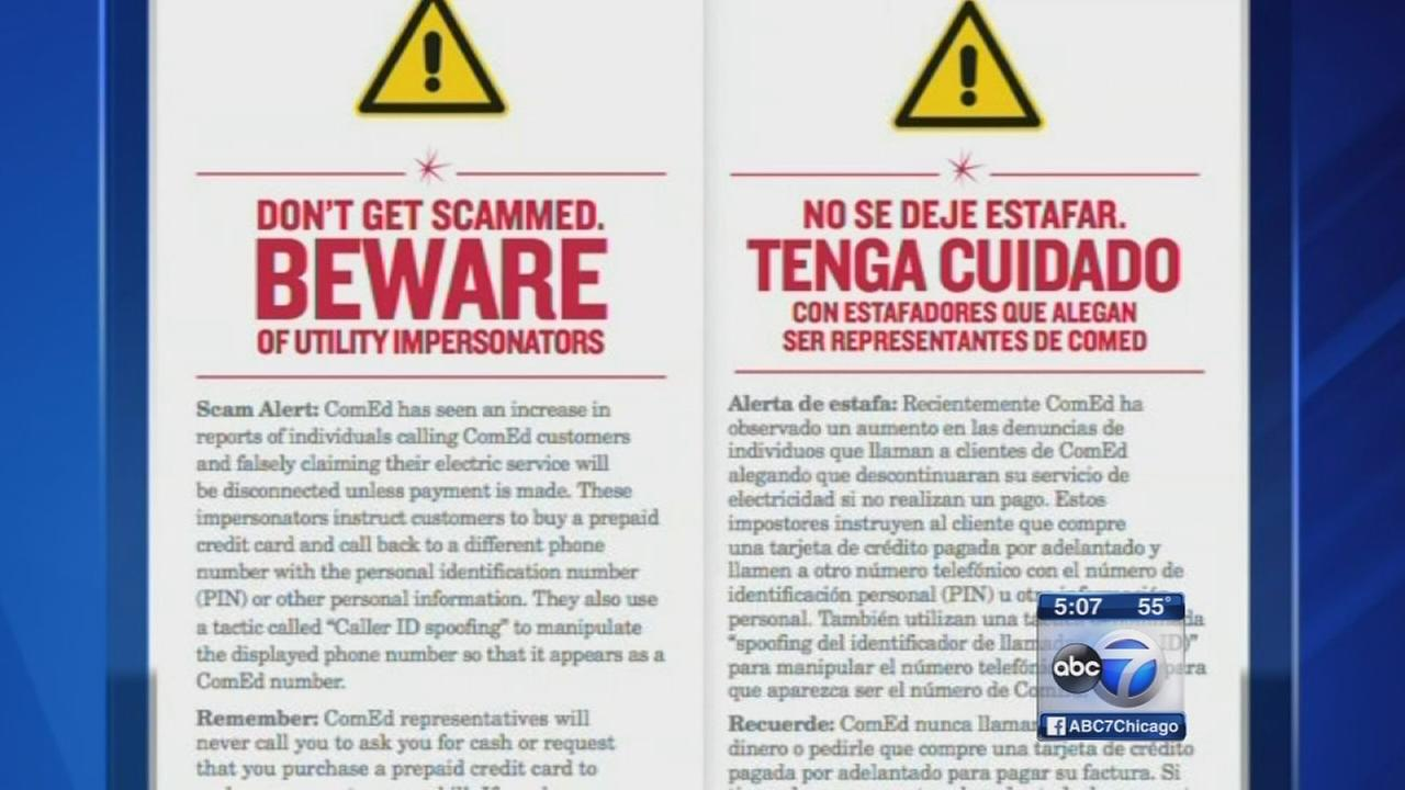 ComEd warns customers of scam