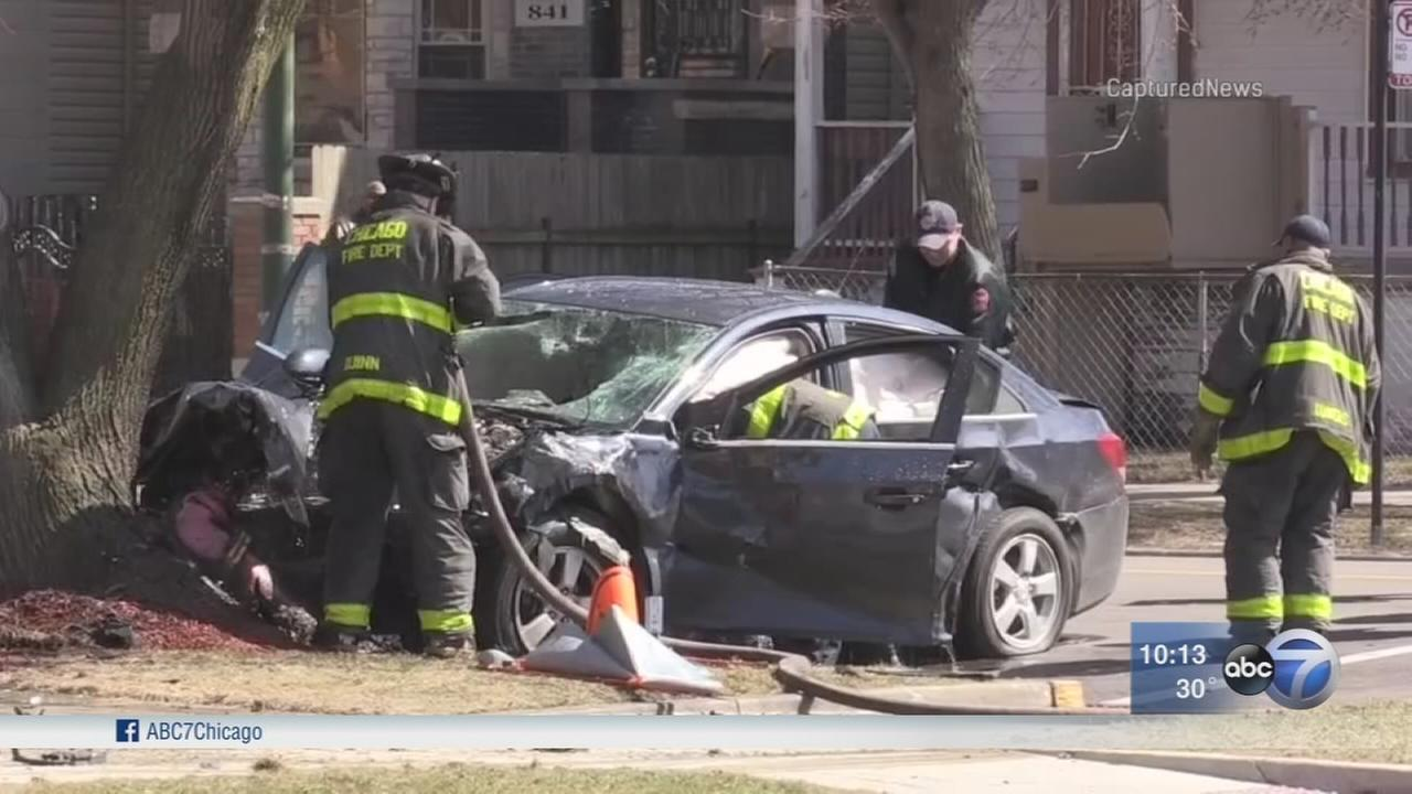 2 injured in crash following police chase