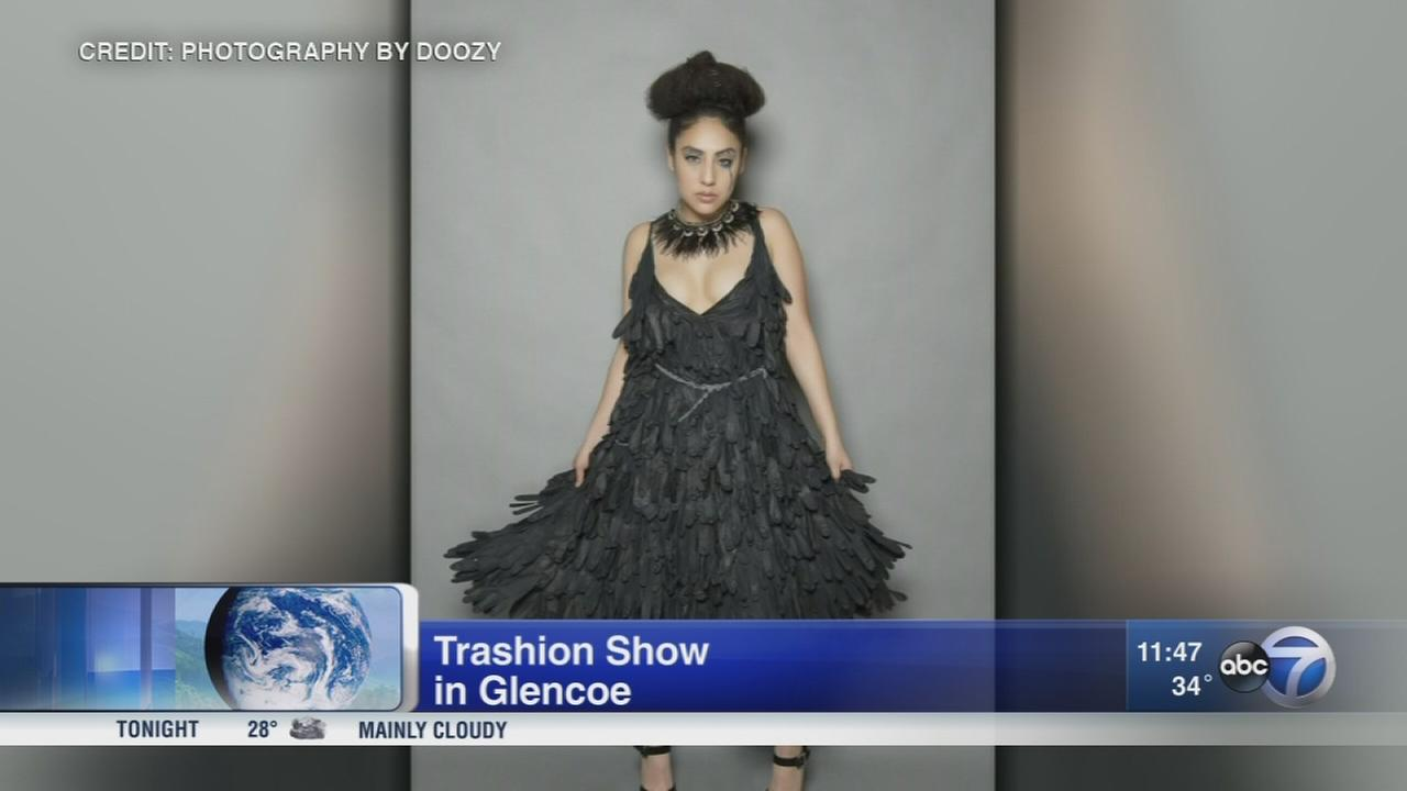 Show features fashion made of recycled material