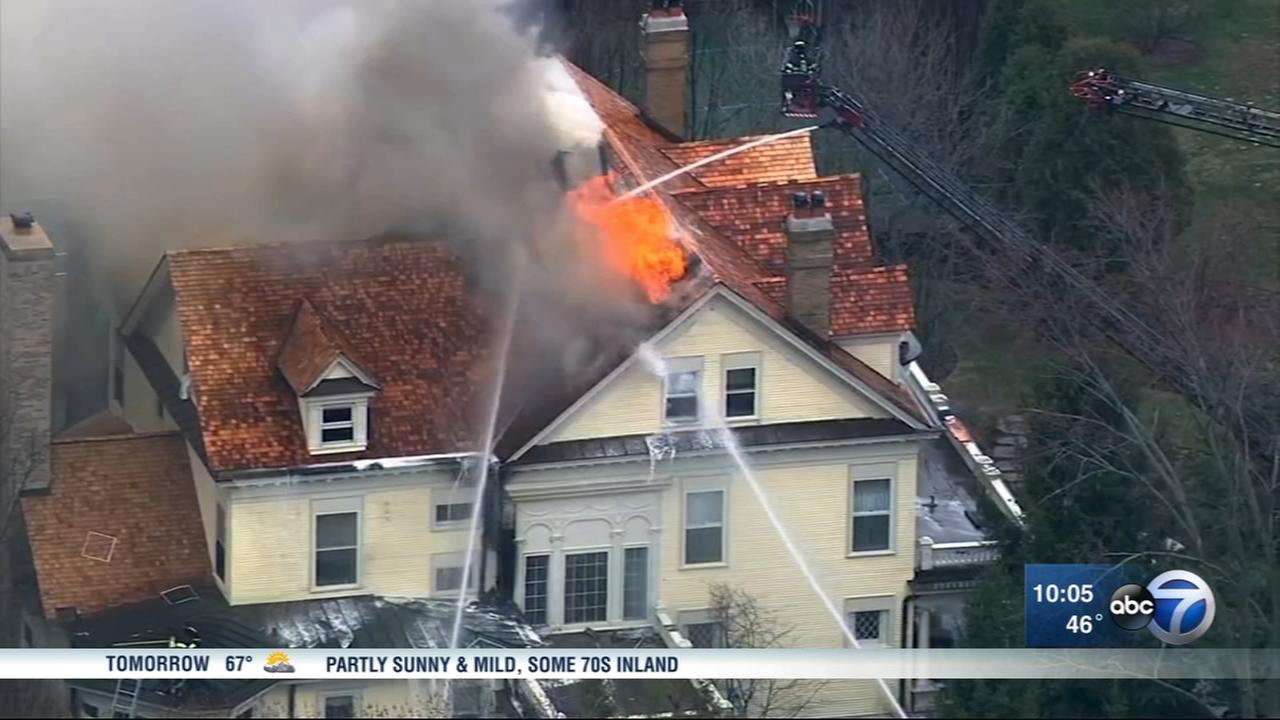 Historic Hinsdale home burned in massive fire