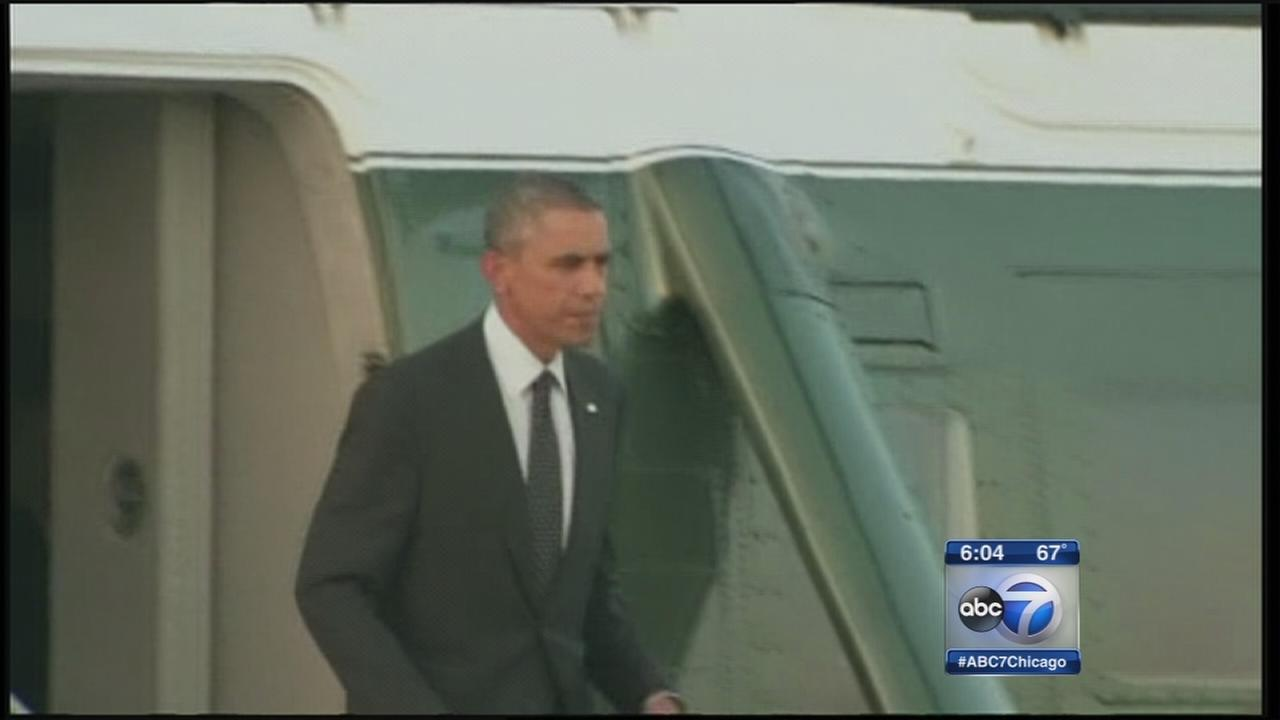 President Obama to land shortly at Gary airport
