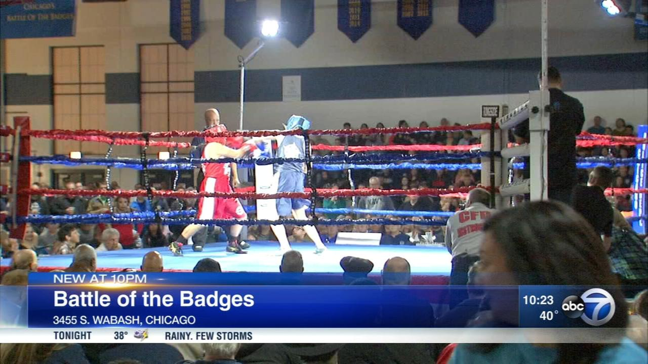Chicago Police, Fire, Park District raise money for charity with boxing