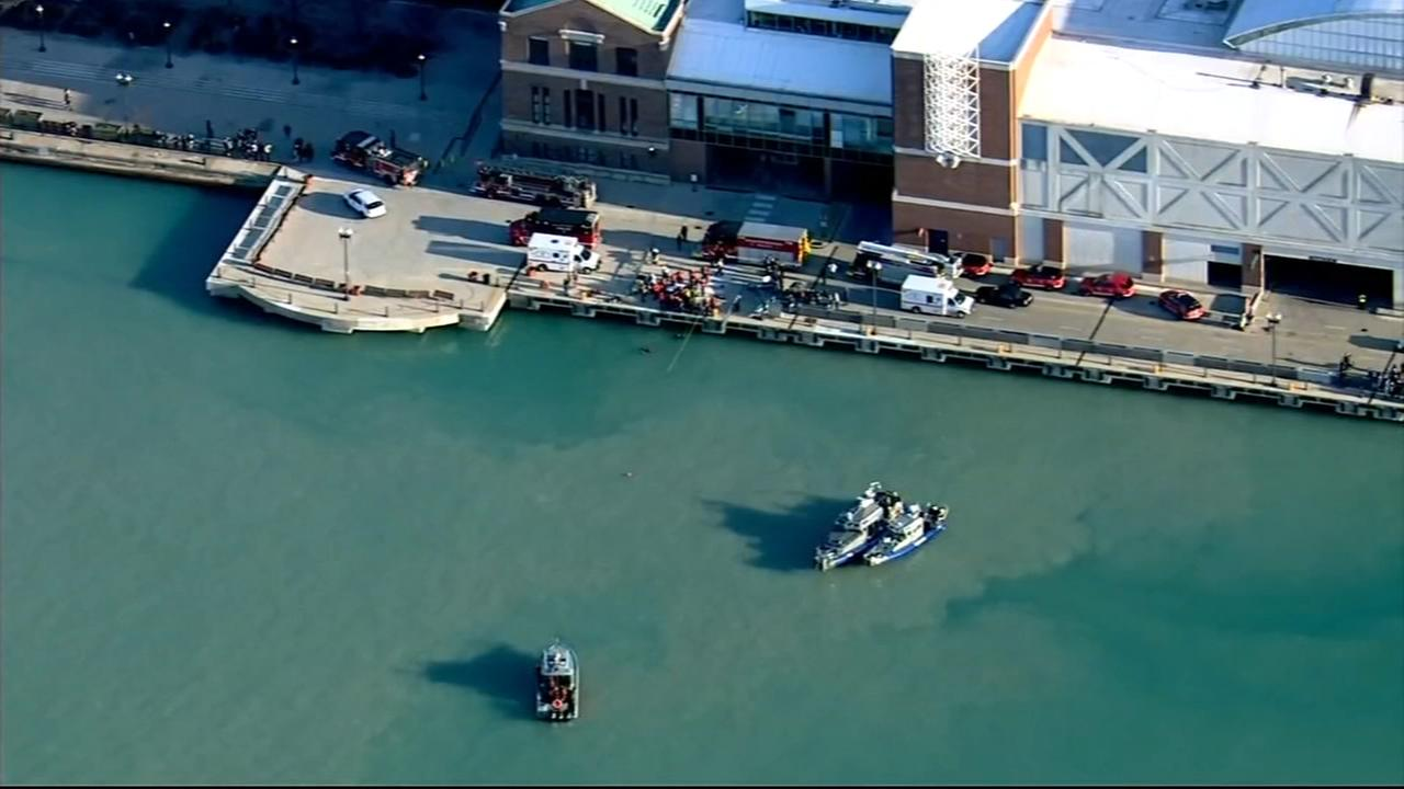Driver dies after car goes into Lake Michigan near Navy Pier