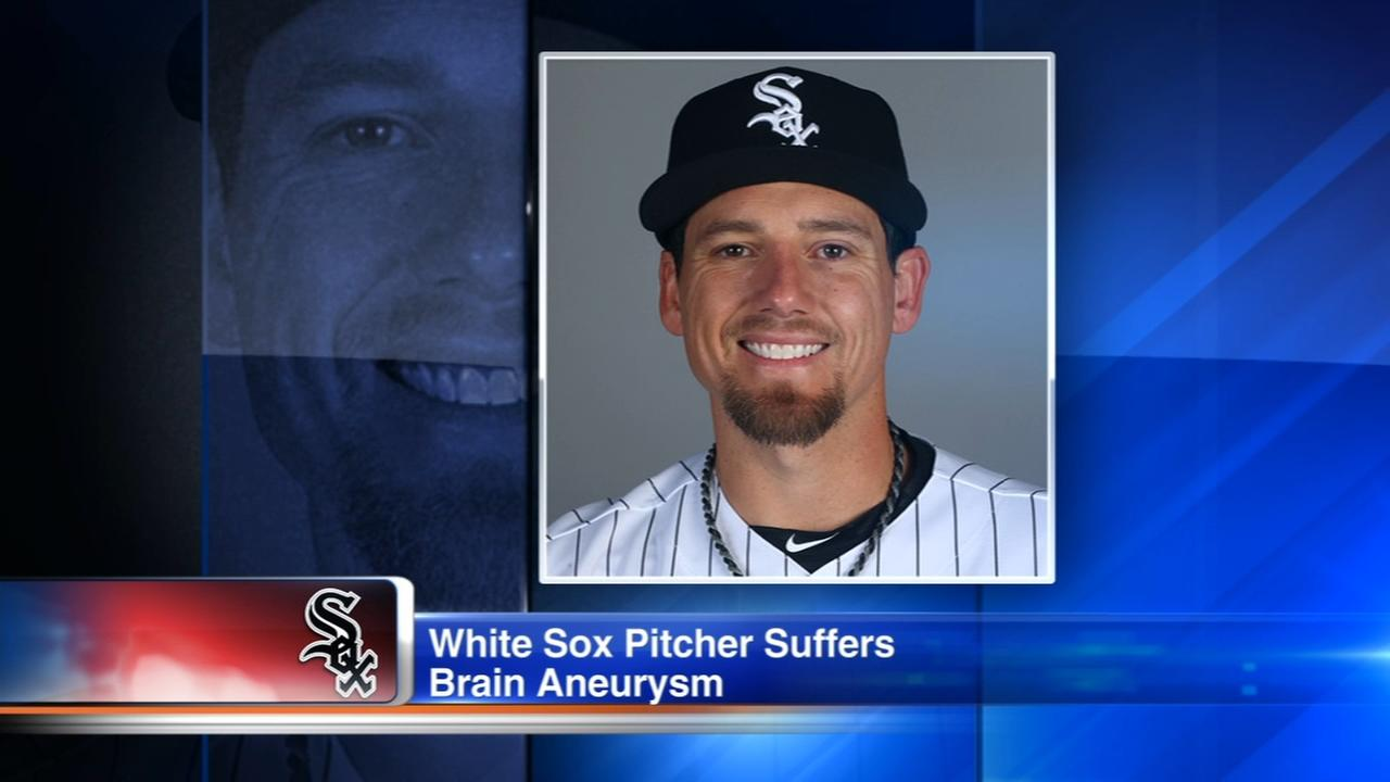 White Sox reliever in critical condition after brain bleed