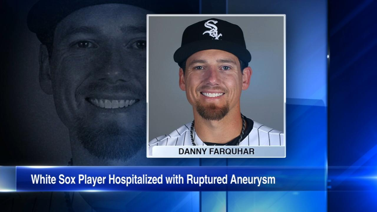 White Sox reliever Danny Farquhar in critical condition