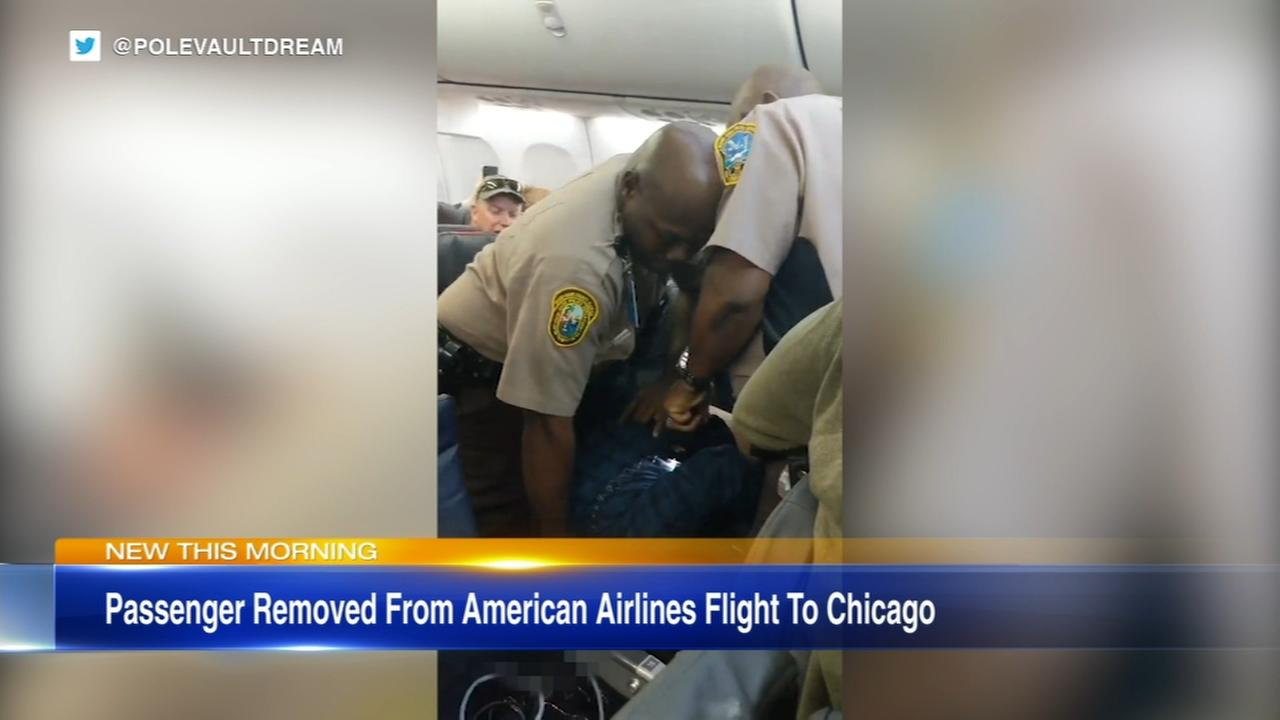VIDEO: Passenger removed from American Airlines flight to Chicago
