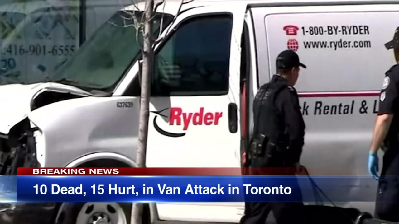 Suspect in Toronto van collision keeping quiet