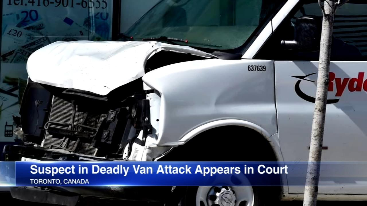 Suspect in Toronto van attack appears in court